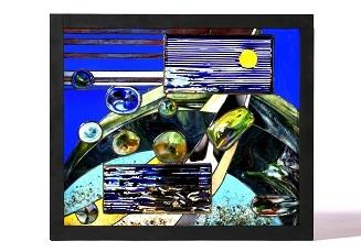 第73回滋賀県美術展覧会(工芸の部)佳作「湖情堆積」